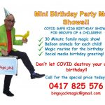 Birthday party magic shows during COVID!!