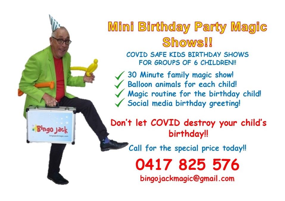 Birthday party magic show options for Adelaide during COVID restrictions